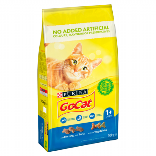 Go Cat Tuna, Herring & Veg Dry Cat Food 10kg